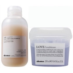 Davines Love Smoothing Shampoo + Conditioner sampak