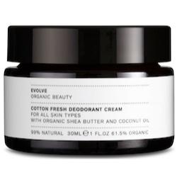 Evolve Organic Beauty Cotton Fresh Deodorant Cream 30 ml