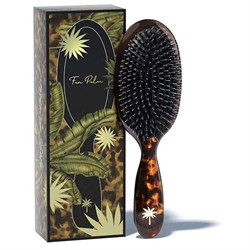 Fan Palm Tortoise Shell Hair Brush Medium